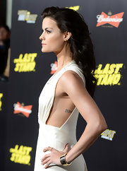 "Jaimie Alexander has the letters ""AM"" tattooed on her left side."