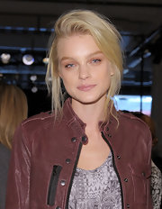 Jessica Stam rocked a just-got-out-of-bed updo during the Rag & Bone fashion show.