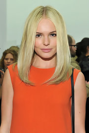 Kate Bosworth looked flawless with her face-framing, center-parted 'do at the Calvin Klein fashion show.