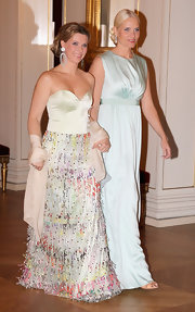 Princess Mette-Marit kept it simple yet sophisticated in a sleeveless mint-green gown.