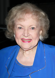 Betty White opted for a short curly hairstyle when she attended the Diamonds Not Fur Gala.
