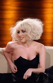 Lady Gaga appeared on Germany's 'Wetten, dass..?' show wearing an exaggeratedly curly bob.