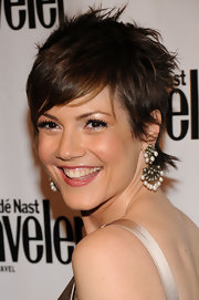 Zoe McLellan looked cool and edgy with her messy cut at the Conde Nast Traveler Hot List Party.