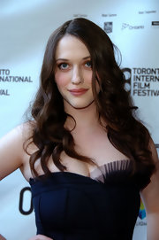 Kat Dennings attended the TIFF premiere of 'Nick & Norah's Infinite Playlist' wearing her hair down with messy-glam curls.