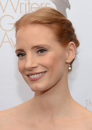 Jessica Chastain opted for a classic, elegant braided updo when she attended the Writers Guild Awards.
