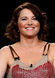 Lucy Lawless kept it sweet with this curled-out bob at the 2009 Summer TCA Tour.