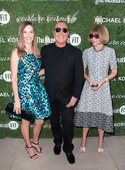 Anna Wintour chose a Michael Kors print dress for the Couture Council Fashion Visionary Awards.