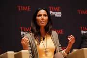 Padma Lakshmi sat on the Time Person of the Year panel rocking an animal claw necklace.