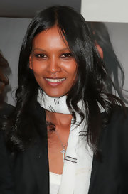 Liya Kebede styled her hair with a center part and wavy ends for the debut of Lemlem with J. Crew.