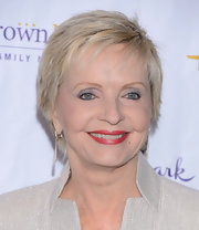Florence Henderson sported a short razor cut at the 2013 Winter TCA press gala.
