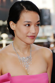 Shu Qi was dripping in diamons with her silver chandelier necklace at the 'Vengeance' premiere at the 62nd Cannes Film Festival.