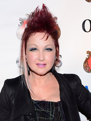 Cyndi Lauper had her hair styled in a fauxhawk for the Obie Awards.