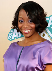 Bresha Webb kept it sweet with this curly bob at the premiere of 'The American Mall.'