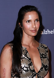 Padma Lakshmi styled her long locks into a simple half-up 'do for the Alzheimer's Association Rita Hayworth Gala.