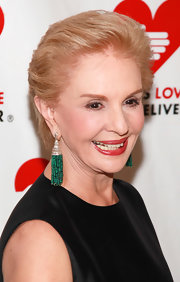 Carolina Herrera sported a straight, brushed-back hairstyle at the 2011 Golden Heart Awards.