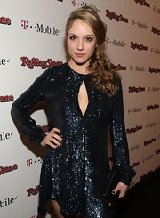 Brooke styled her hair in a formal ponytail for the Rolling Stone party in Hollywood.