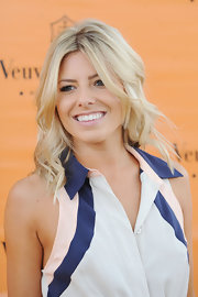 Mollie King wore her hair down to her shoulders with beachy waves when she attended the Veuve Clicquot Gold Cup Final.