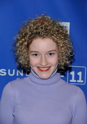 Julia Garner wore a short curly style at the Sundance premiere of 'Martha Marcy May Marlene.'