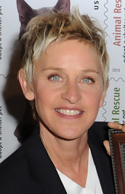 Ellen DeGeneres sported a messy cut at the Animal Rescue: Adopt a Shelter Pet Stamp dedication.