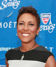 Robin Roberts wore a cool fauxhawk at the USTA Serves opening night gala.