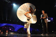 Lady Gaga brought some cosmic glamour to the 2011 MTV Europe Music Awards with this silver disc dress by Paco Rabanne.