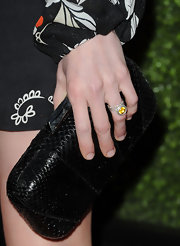 Mireille Enos carried a snakeskin hard case clutch at the Season 5 premiere of 'The Killing.'