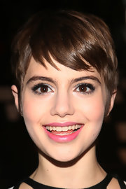 Sami Gayle swiped on some pink lipstick for a pretty finish to her look.