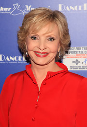Florence Henderson styled her hair into a layered razor cut for the Dance for the Cure of Prostate Cancer fundraiser.