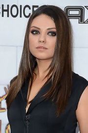 Mila Kunis went heavy on the eyeshadow for an edgy beauty look.