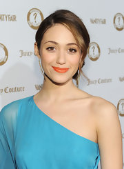 Emmy Rossum swept her hair up in a lovely side chignon for the Vanities 20th anniversary.