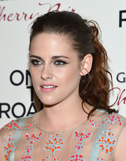 Kristen Stewart rocked a messy ponytail at the New York premiere of 'On the Road.'
