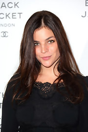 Julia Restoin-Roitfeld wore her long hair down with wavy ends during the Chanel Little Black Jacket event.