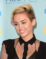 Miley Cyrus wore her hair in a tousled fauxhawk at the 2013 Teen Choice Awards.