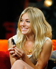 Sienna Miller was a boho babe with her long blonde waves while visiting Fuse's No. 1 Countdown.