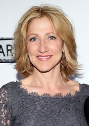 Edie Falco styled her hair into a layered razor cut for the Broadway opening of 'Clybourne Park.'