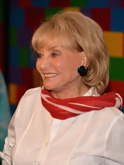 Barbara Walters attended the screening of 'Salinger' wearing her hair in a simple bob.