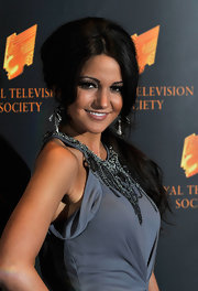 Michelle Keegan went for a retro vibe with this teased ponytail at the RTS Programme Awards.