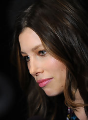 Jessica Biel looked very girly with her pink-hued pout at the 'Summit on the Summit: Kilimanjaro' premiere.