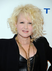 Cyndi Lauper had her blonde locks curled out for the DKMS gala.