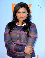 Mindy Kaling sported a stylish gold pendant necklace at the screening of Fox TV's new Tuesday night comedies.