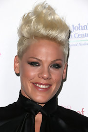 Pink looked funky with her towering fauxhawk at the Power of Pink benefit.