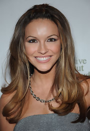 Chrishell Stause complemented her dress with a silver chain necklace.