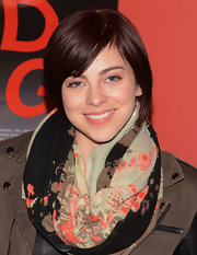 Krysta Rodriguez kept it casual with this short cut with side-swept bangs at the New York screening of 'Red Flag.'