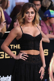 Miley Cyrus showed off a massive black diamond ring at the premiere of 'The Hunger Games.'