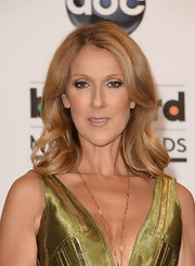 Celine Dion wore her hair in bouncy waves at the 2013 Billboard Music Awards.