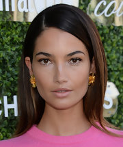 Lily Aldridge looked sleek and elegant with this side-parted straight 'do during the Couture Council luncheon.