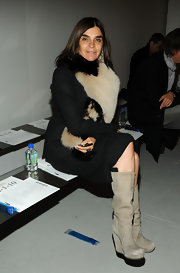 Carine Roitfeld attended the Rodarte fashion show wearing stylish nude wedge boots.