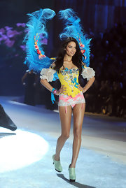 Shanina Shaik hits the runway for Victoria's Secret.