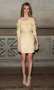 Lauren Santo Domingo chose simple nude Christian Louboutin pumps to pair with her dress.