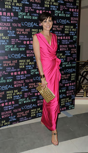 Ines de la Fressange chose a pair of comfortable yet glam T-strapped sandals at a post-premiere party.